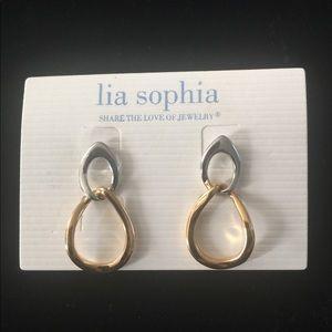 Lia Sophia two-toned earrings